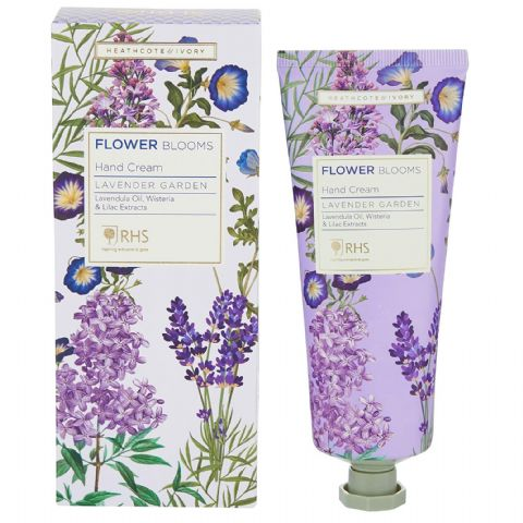Lavender Garden - RHS Flower Blooms Scented Hand Cream Heathcote & Ivory 100ml